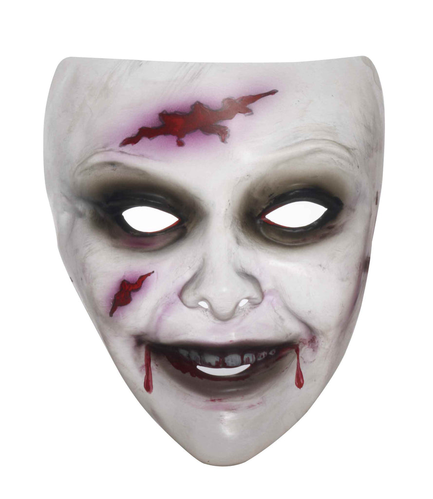 Female Zombie Transparent Mask - HalloweenCostumes4U.com - Accessories