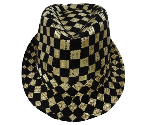 Checkerboard Fedora Hat - Various Colors - HalloweenCostumes4U.com - Accessories - 2