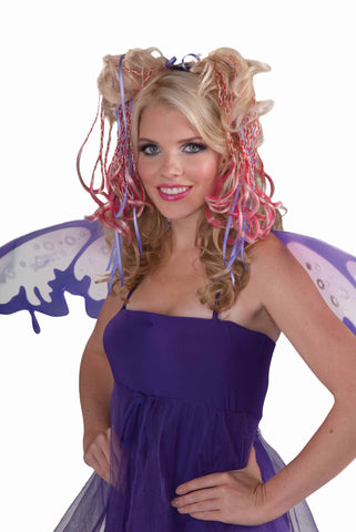 Fairy Hair Piece-Blonde/Pink - HalloweenCostumes4U.com - Accessories
