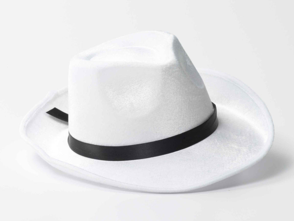 Classic Fedora Costume Hat White - HalloweenCostumes4U.com - Accessories
