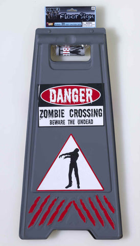 Zombie Crossing Halloween Sign - HalloweenCostumes4U.com - Decorations