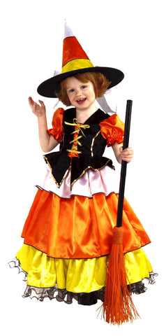 Toddlers Candy Corn Witch Costume - HalloweenCostumes4U.com - Infant & Toddler Costumes