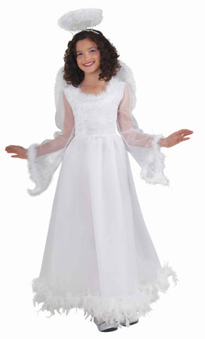 Girls Christmas Angel Costume - HalloweenCostumes4U.com - Kids Costumes