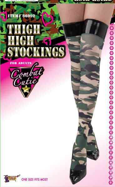 Combat Cutie Thigh Highs - HalloweenCostumes4U.com - Accessories