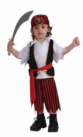 Toddler's Pirate Boy Halloween Costumes - HalloweenCostumes4U.com - Infant & Toddler Costumes