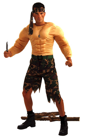 Rogue Jungle Commando Men's Costume - HalloweenCostumes4U.com - Adult Costumes