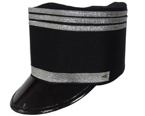 Black Marching Band Hat - HalloweenCostumes4U.com - Accessories