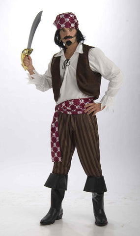 Mens Shipwrecked Pirate Costume - HalloweenCostumes4U.com - Adult Costumes