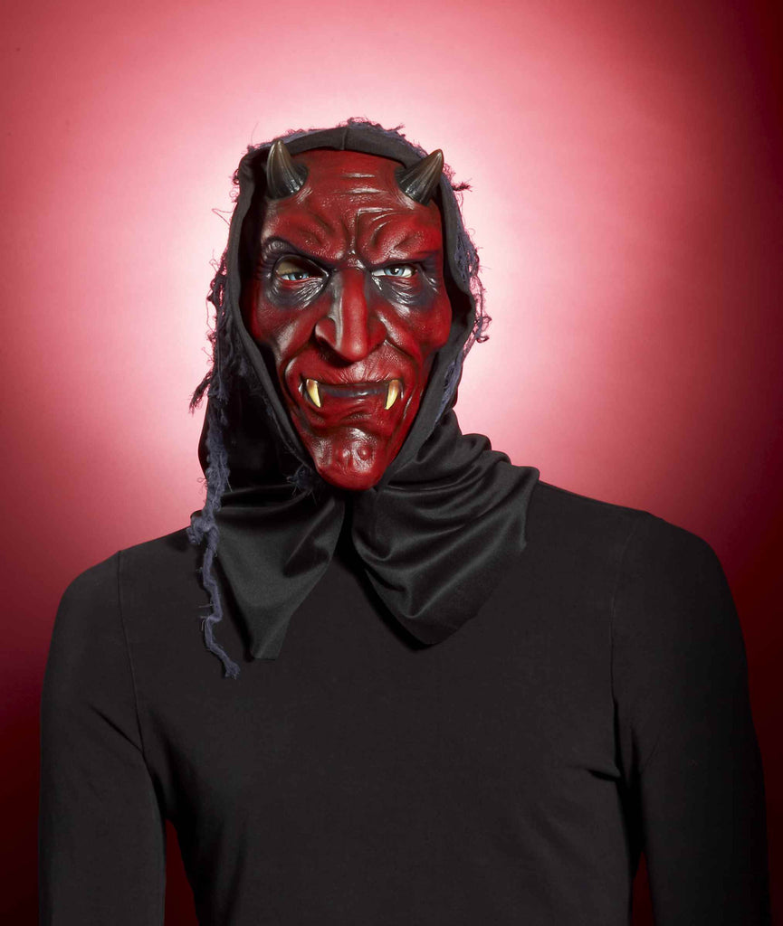 Hooded Red Devil Mask