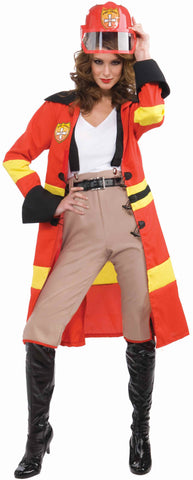 Women's Fire Fighter Halloween Costume - HalloweenCostumes4U.com - Adult Costumes