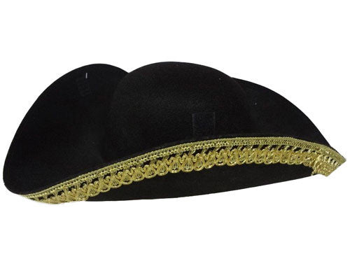 Tricorn Colonial Hat - HalloweenCostumes4U.com - Accessories