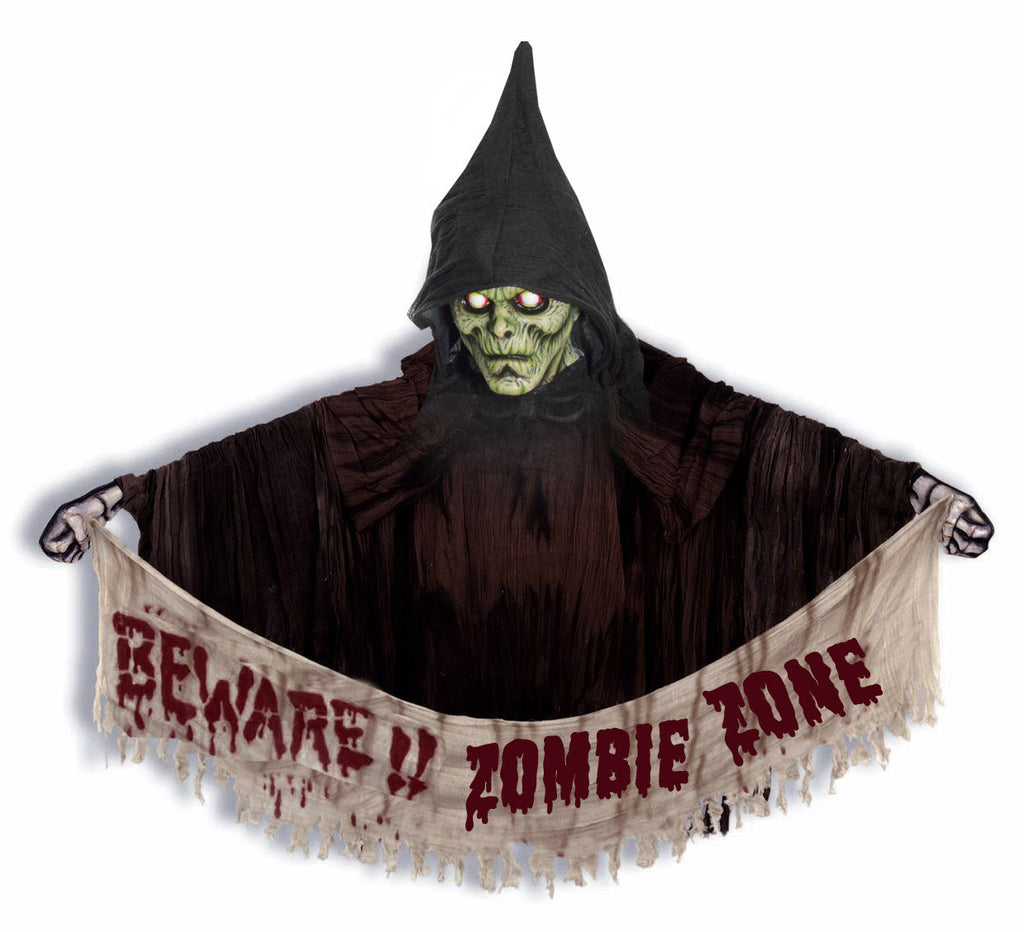Hooded Zombie Wall Hanging - HalloweenCostumes4U.com - Accessories