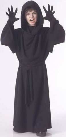Boys Black Horror Robe Costume