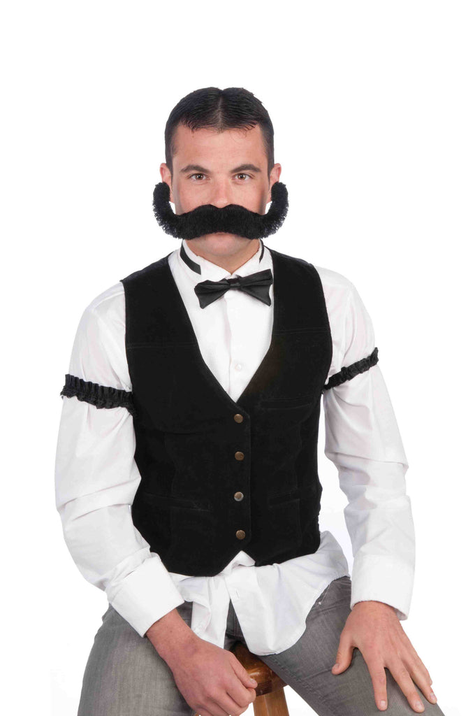 Jumbo Old Time Bartender Moustache - HalloweenCostumes4U.com - Accessories