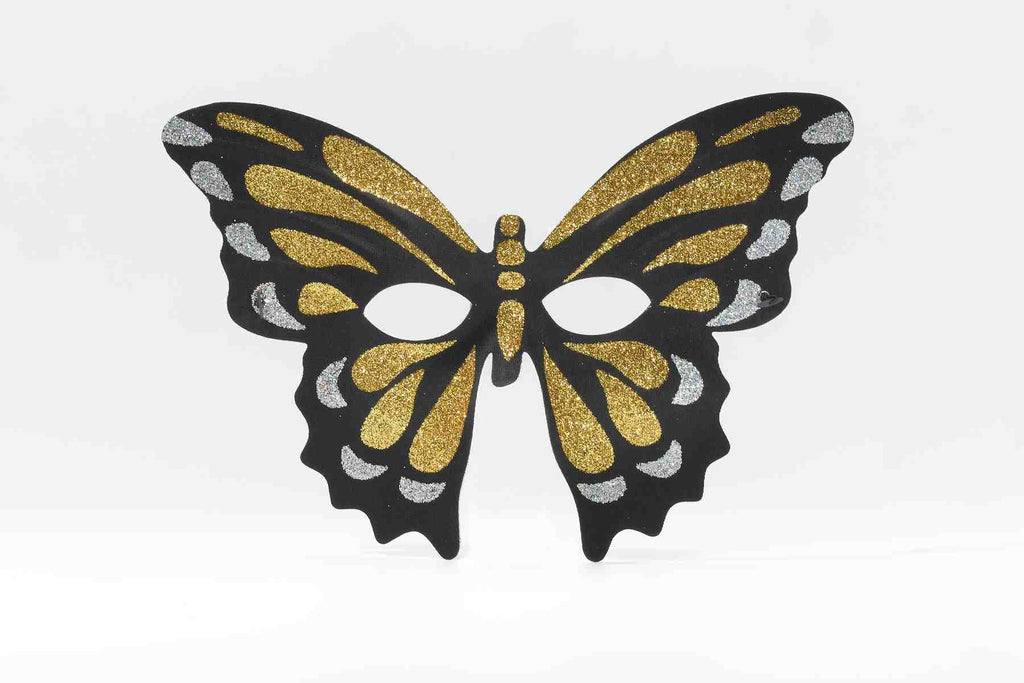 Gold Butterfly Glitter Costume Mask - HalloweenCostumes4U.com - Accessories