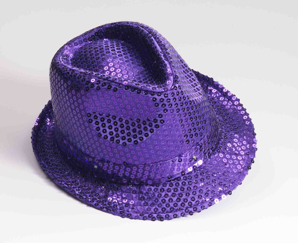 Light Up Purple Sequin Halloween Hats - HalloweenCostumes4U.com - Accessories