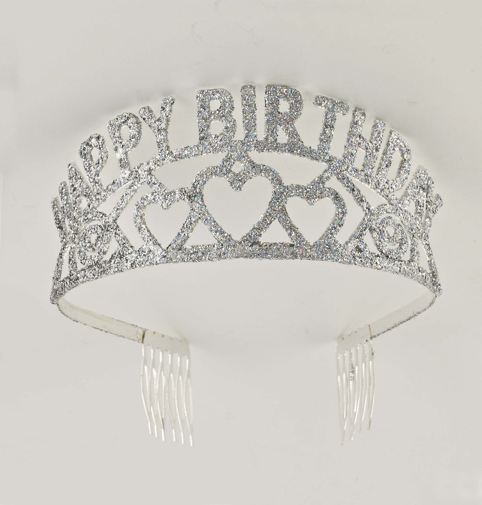 Glitter Tiara-Happy Birthday - HalloweenCostumes4U.com - Accessories