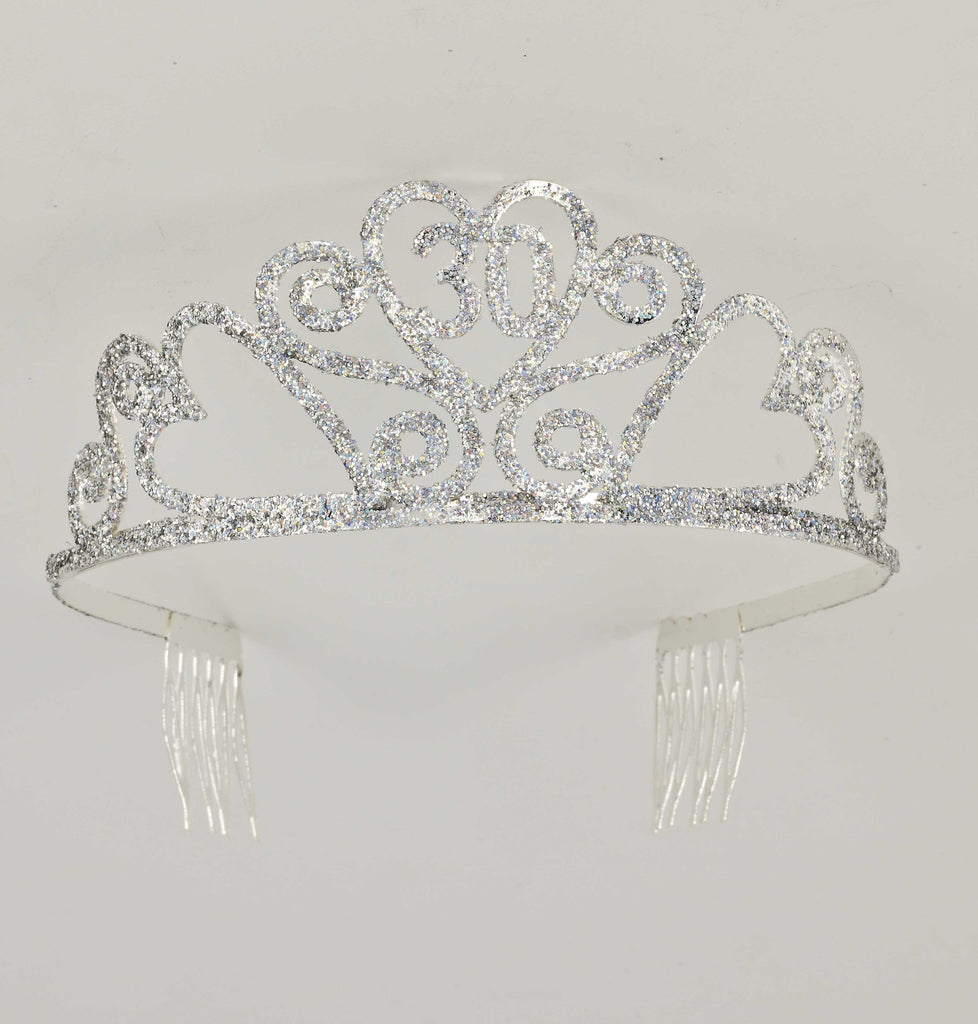 Glitter Birthday Tiara #30 - HalloweenCostumes4U.com - Accessories