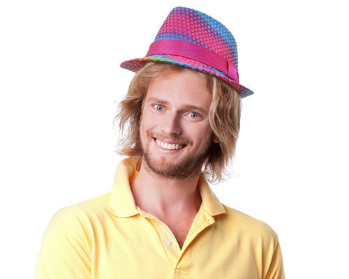 Rainbow Sequin Fedora Hat - HalloweenCostumes4U.com - Accessories