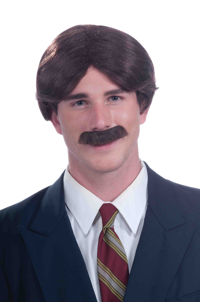 Mr. 70's Wig & Moustache - HalloweenCostumes4U.com - Accessories