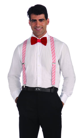 Holiday Candy Cane Stripes Suspenders - HalloweenCostumes4U.com - Holidays