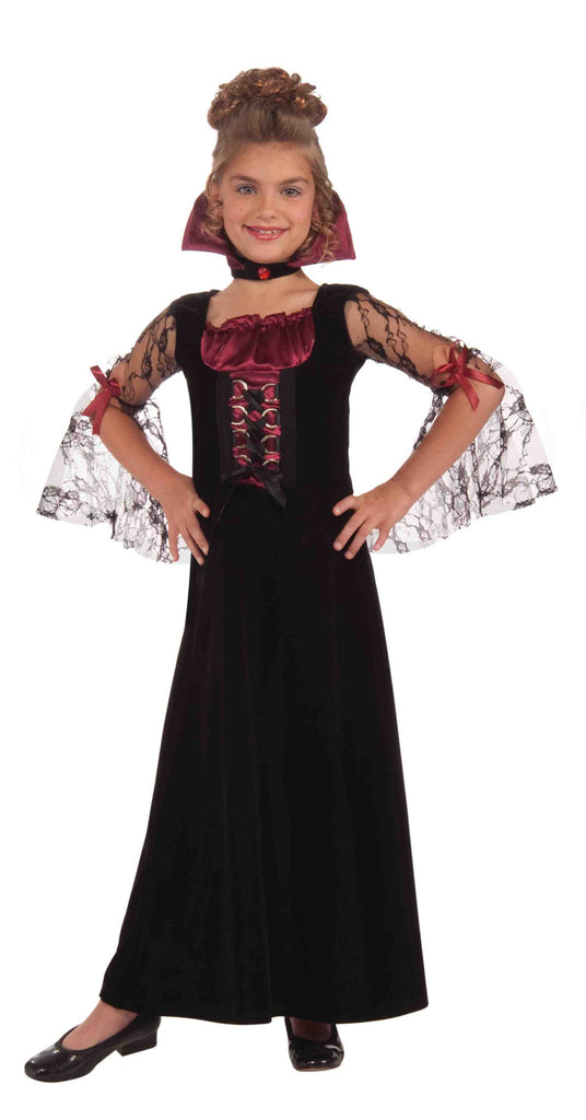 Miss Vampire Halloween Costume for Children - HalloweenCostumes4U.com - Kids Costumes