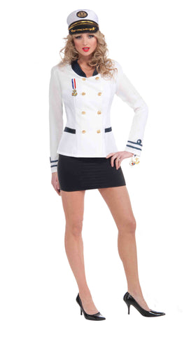 Women's Naval Officer Halloween Costume Jacket - HalloweenCostumes4U.com - Adult Costumes