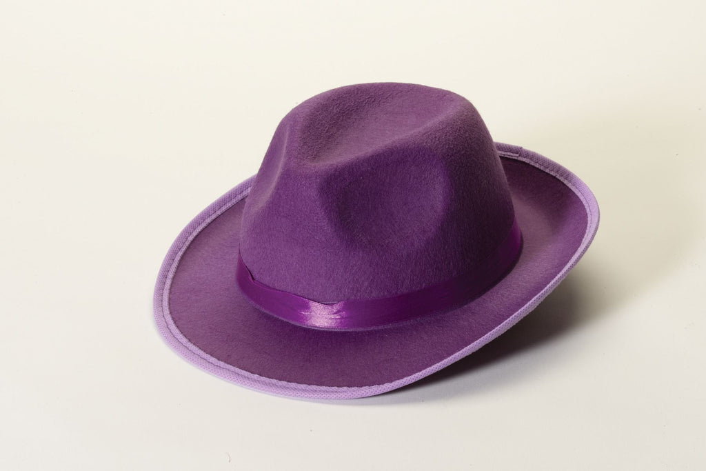 Costume Fedora Purple Felt Fedora Hat - HalloweenCostumes4U.com - Accessories