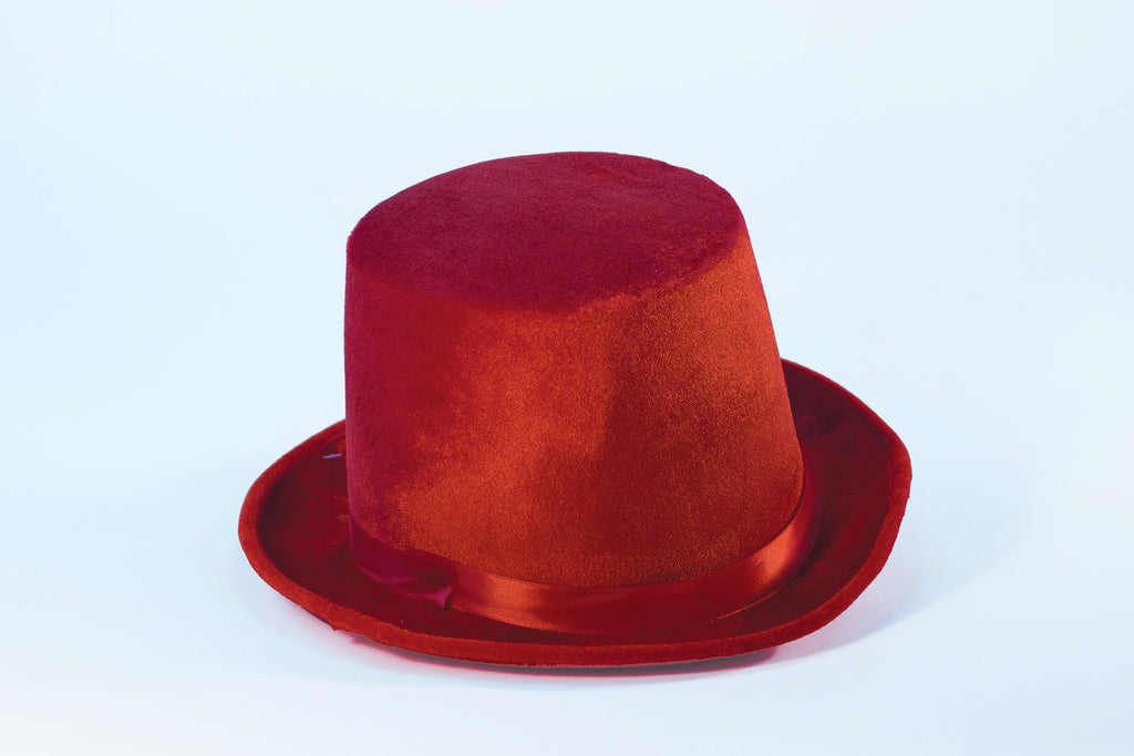 Felt Top Hat Red Costume Top Hat - HalloweenCostumes4U.com - Accessories