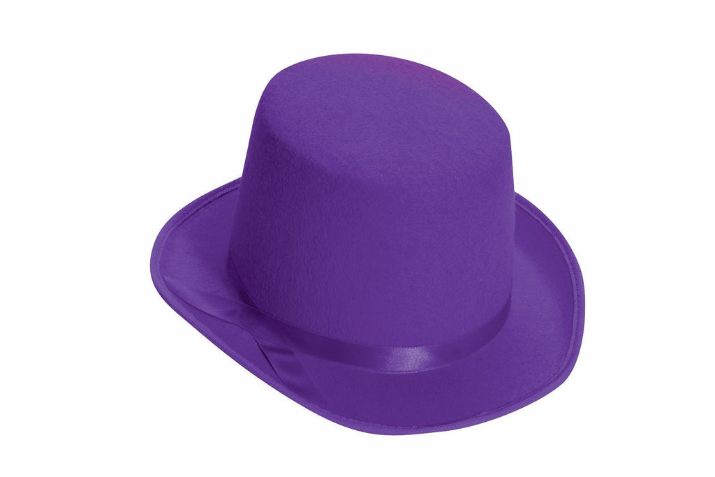 Felt Top Hat Purple Costume Top Hat - HalloweenCostumes4U.com - Accessories
