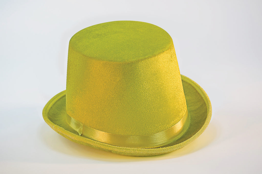 Costume Top Hat Yellow Felt Hat - HalloweenCostumes4U.com - Accessories