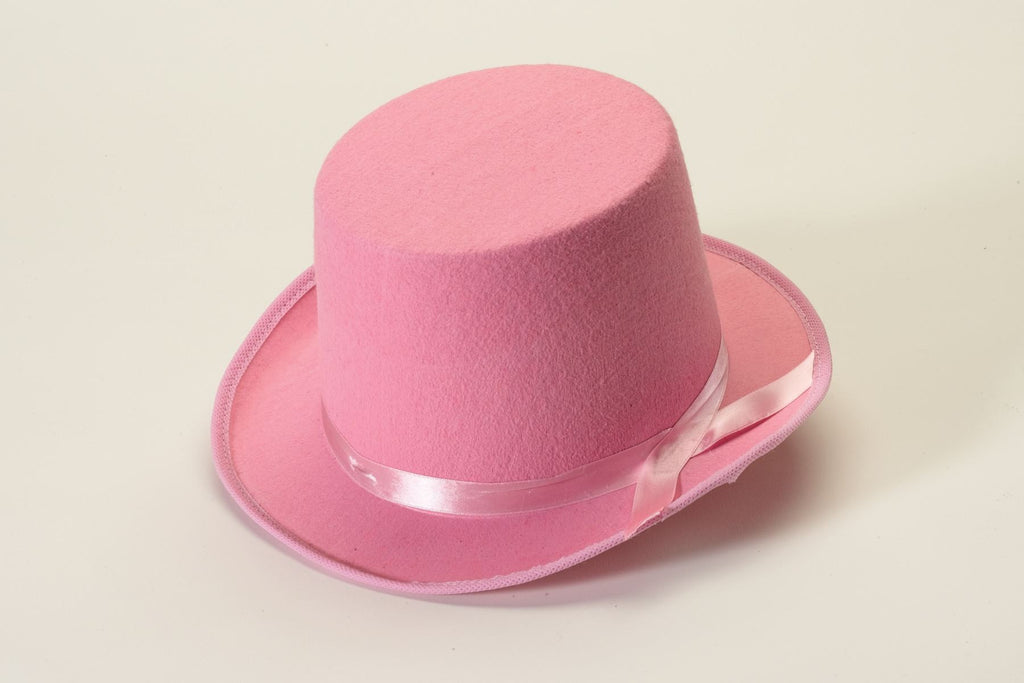 Costume Top Hat Pink Felt Hat - HalloweenCostumes4U.com - Accessories