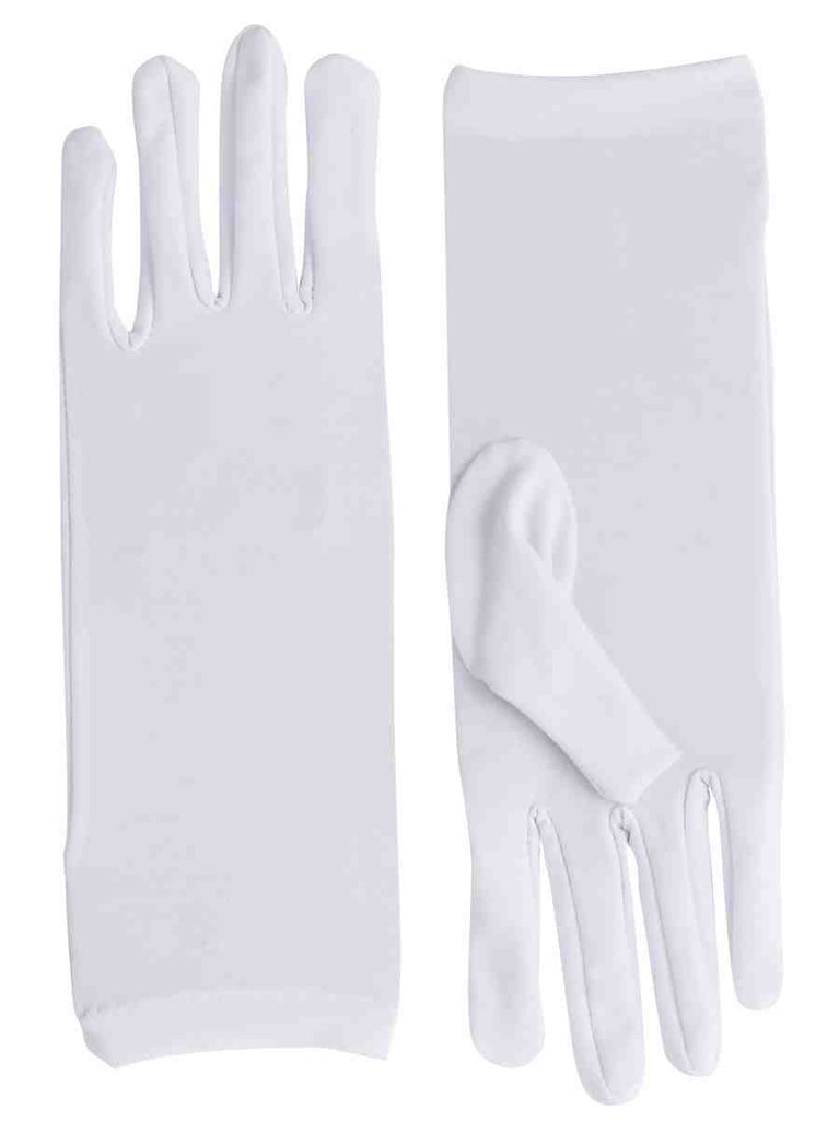White Short Dress Gloves