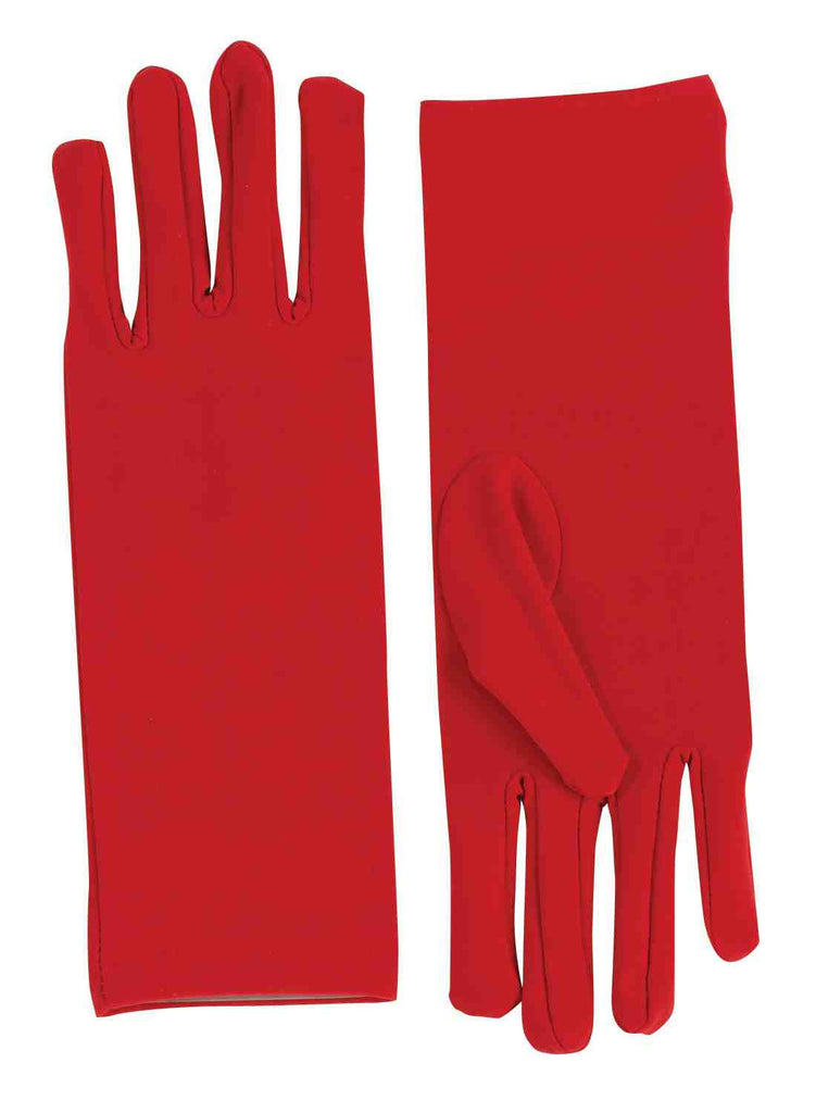 Red Short Dress Gloves - HalloweenCostumes4U.com - Accessories