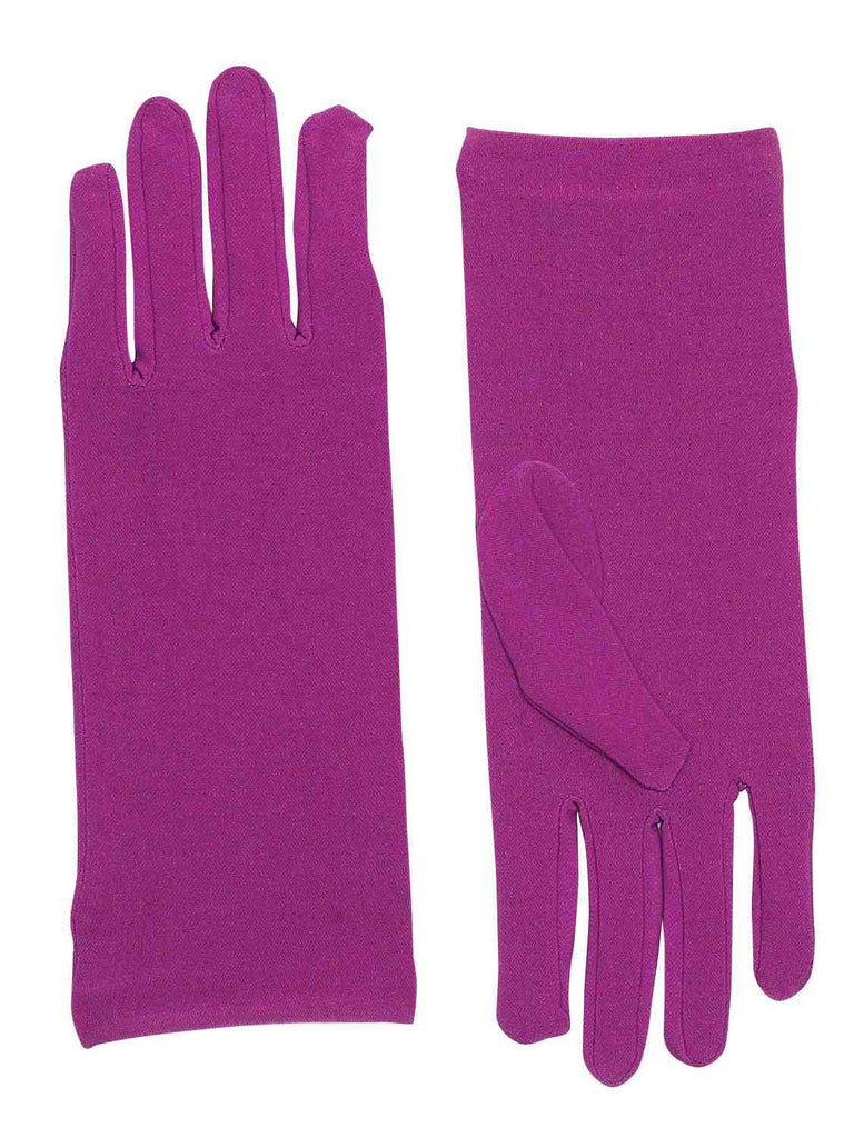 Purple Costume Gloves Short Dress Gloves - HalloweenCostumes4U.com - Accessories