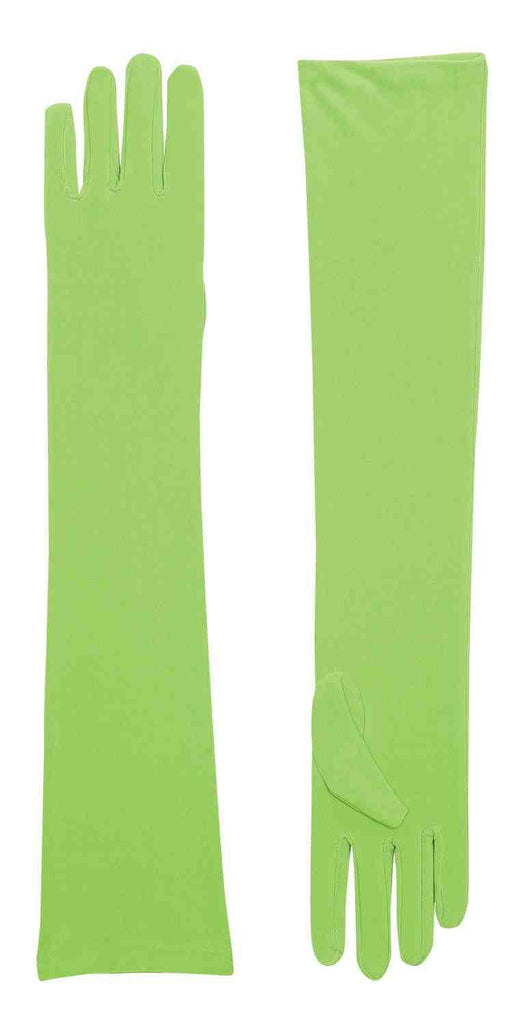 Halloween Gloves Long Green - HalloweenCostumes4U.com - Accessories