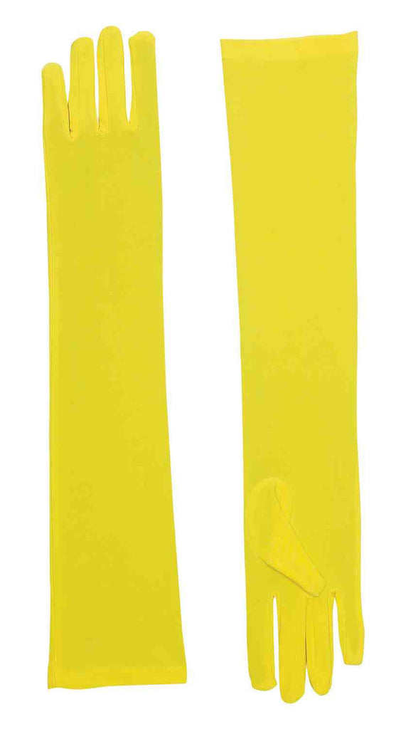 Long Yellow Halloween Costumes Gloves