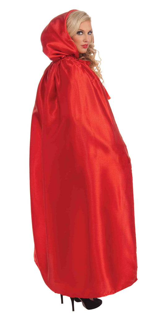 Masquerade Cape Red Hooded Cape