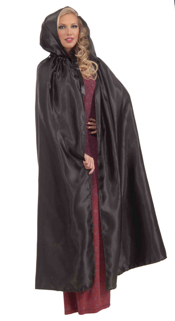 Masquerade Cape Black Hooded Cape - HalloweenCostumes4U.com - Accessories