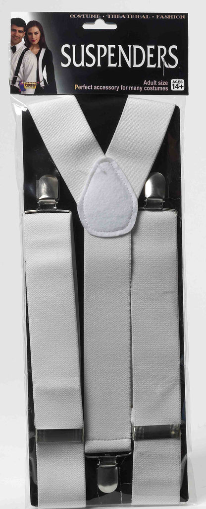 Suspenders-White - HalloweenCostumes4U.com - Accessories