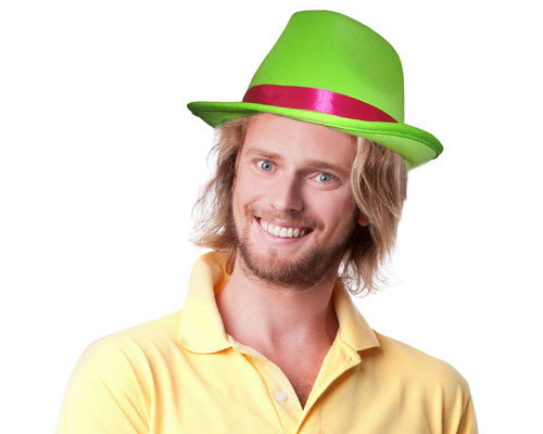 Green Fedora Hat - HalloweenCostumes4U.com - Accessories