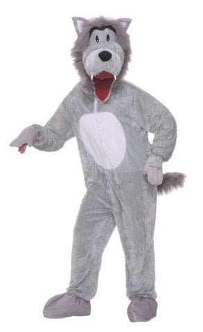 Adults Big Bad Wolf Mascot Costume - HalloweenCostumes4U.com - Adult Costumes