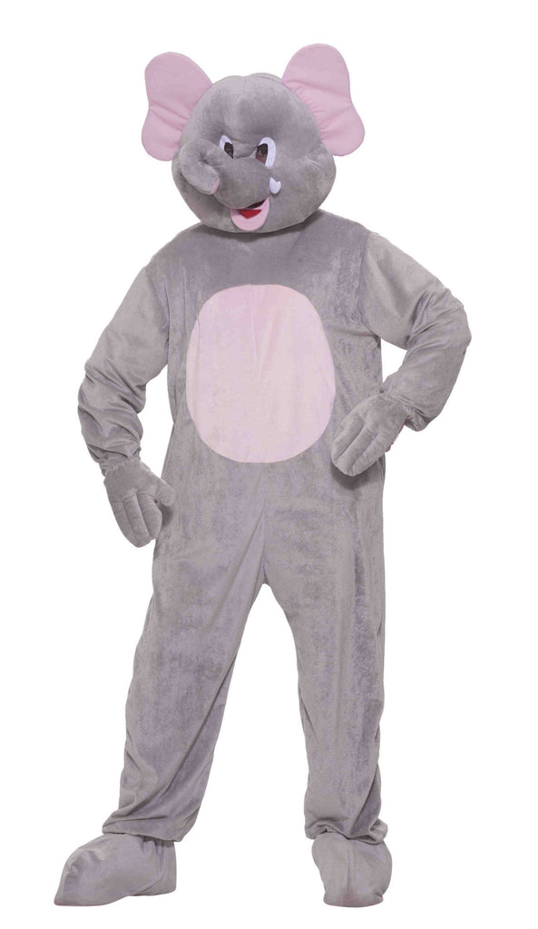 Elephant Costume Plush Elephant Mascot - HalloweenCostumes4U.com - Adult Costumes