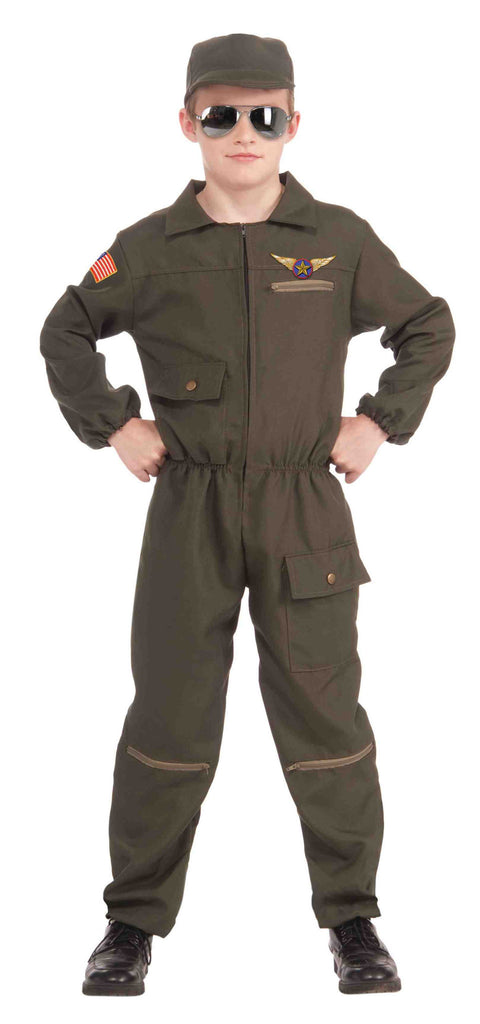 Military Halloween Costume for Kids Jet Fighter Pilot - HalloweenCostumes4U.com - Kids Costumes