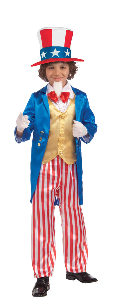 Kid's Uncle Sam Costumes Deluxe Child Costume - HalloweenCostumes4U.com - Holidays