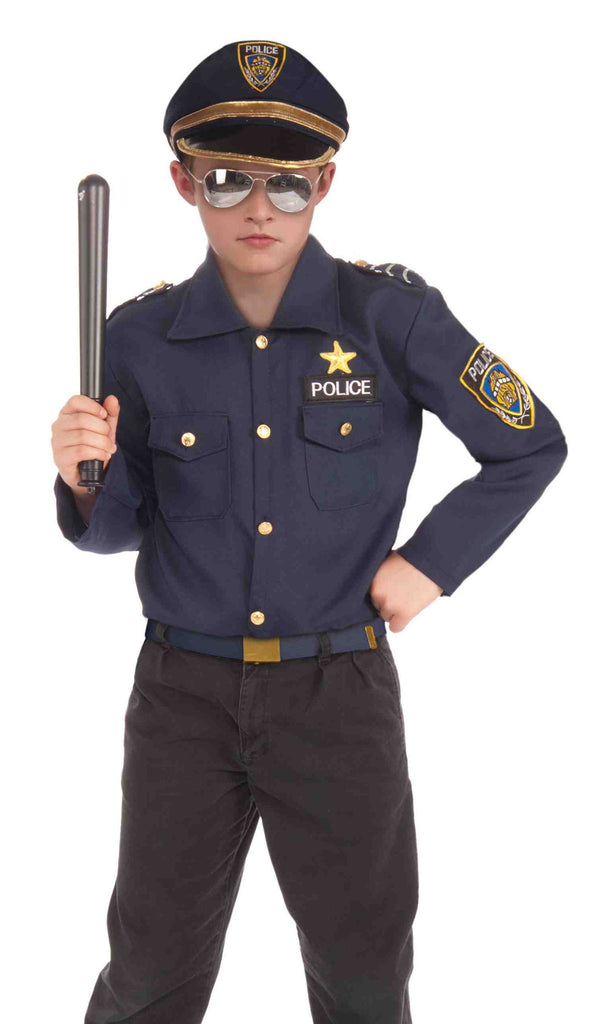 Police Costume Kit Kids Action Hero Set - HalloweenCostumes4U.com - Kids Costumes