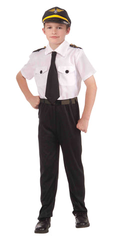 Boys Airline Pilot Costume - HalloweenCostumes4U.com - Kids Costumes