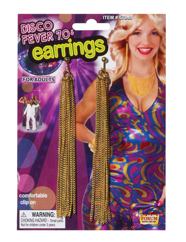 Disco Queen Chain Earrings - HalloweenCostumes4U.com - Accessories