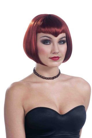Red Vampire Woman Sexy Bob Wig - HalloweenCostumes4U.com - Accessories