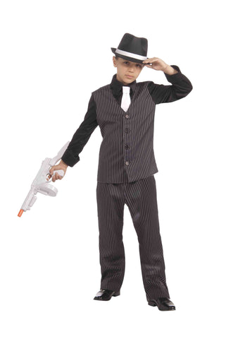 Deluxe 20's Gangster Costume for Children - HalloweenCostumes4U.com - Kids Costumes